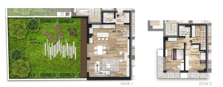 апартамент с двор в София
